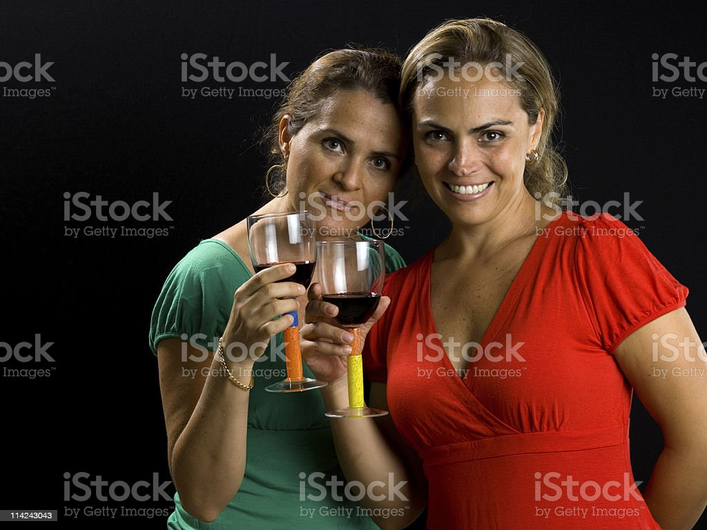 Two Ladies Together stock photo