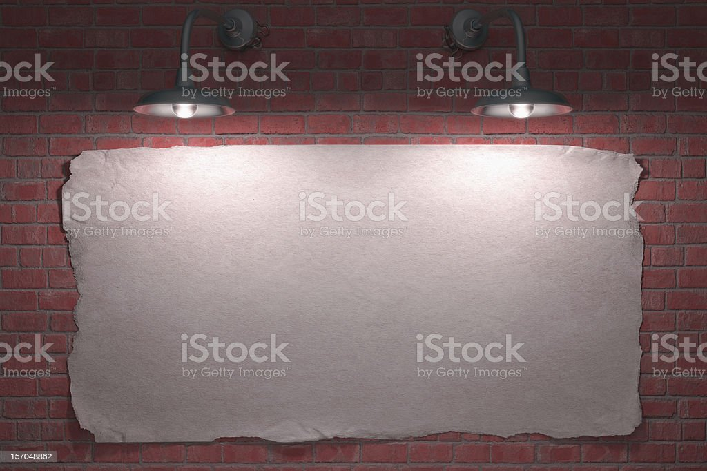 Two Lamp Poster royalty-free stock photo