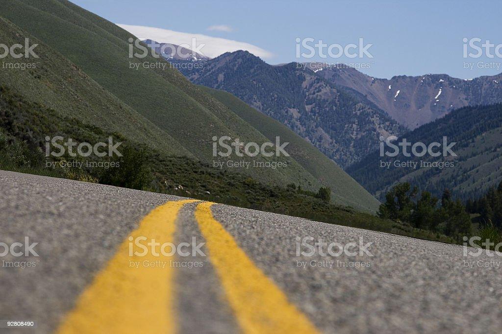 Two Lane Highway stock photo