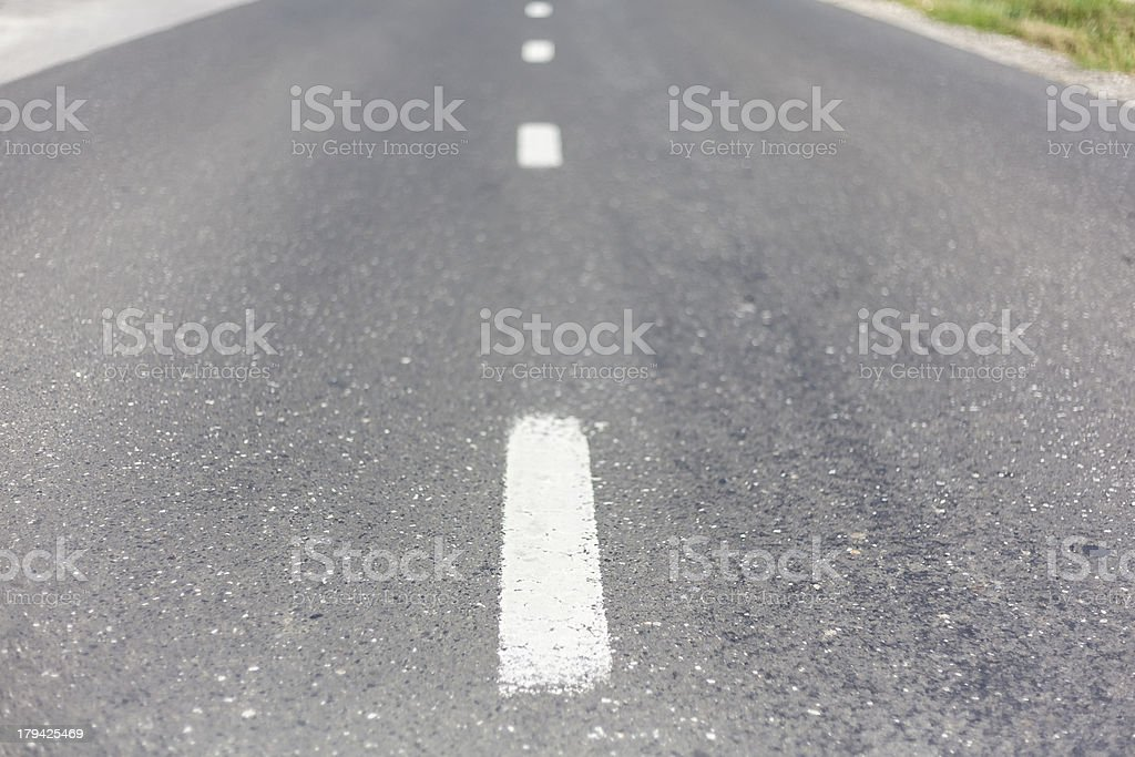 Two lane road II royalty-free stock photo