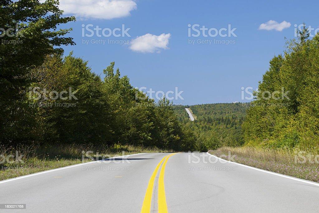 Two Lane Road royalty-free stock photo