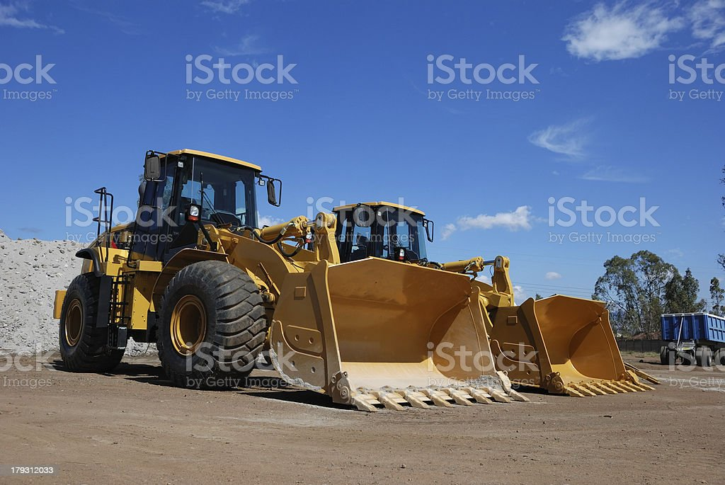 Two Large Construction Vehicles royalty-free stock photo