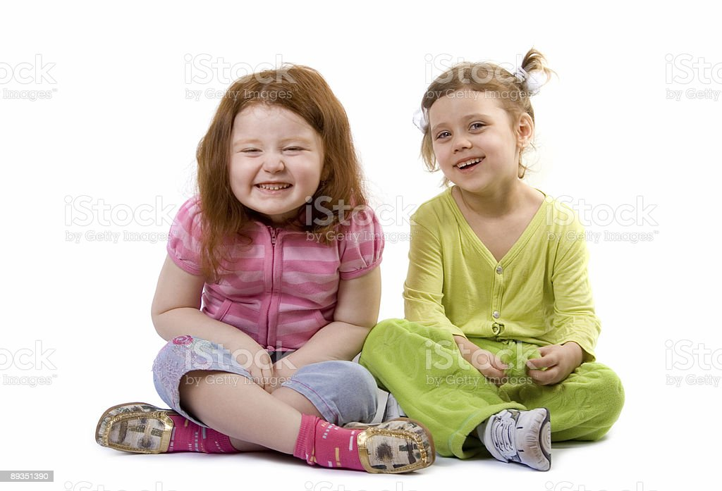 Two laughing girls royalty-free stock photo