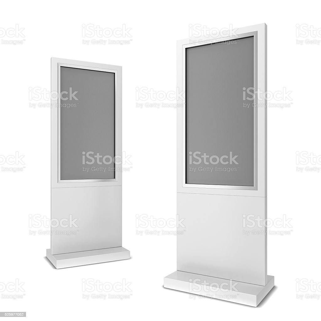 Two lcd displays stock photo