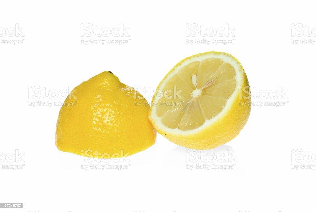 Duas metades de Limão foto de stock royalty-free