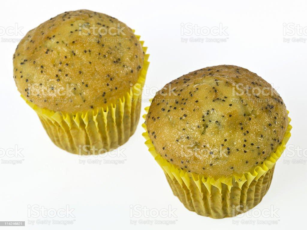 Two Lemon Poppy Muffins stock photo