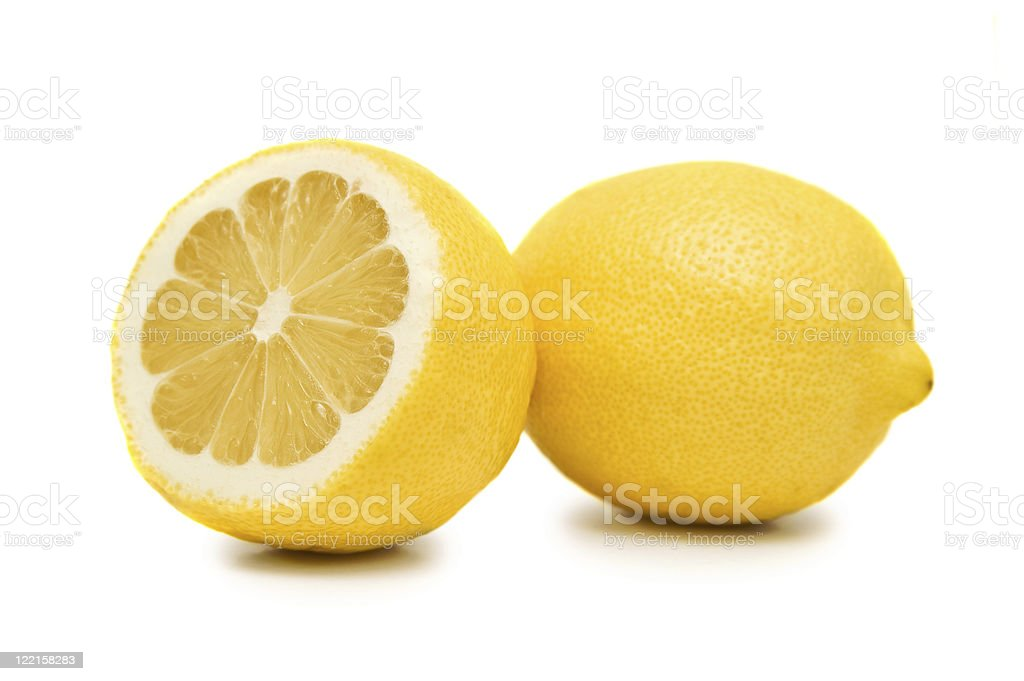 Two lemons stock photo