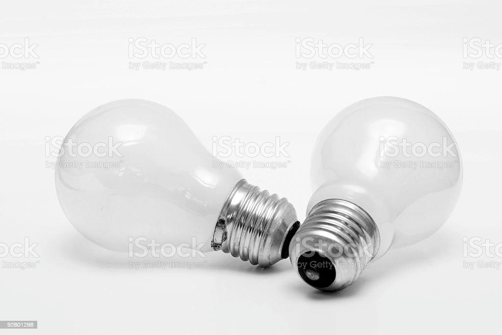 Two Light Bulbs stock photo