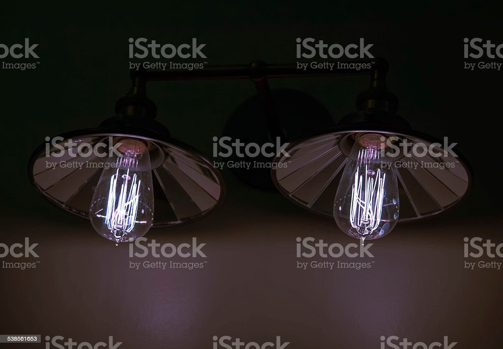 Two lights on a wall royalty-free stock photo