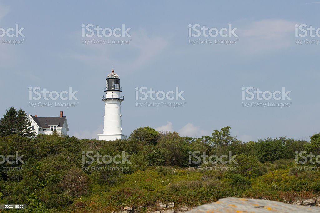 Two Lights State Park Lighthouse royalty-free stock photo