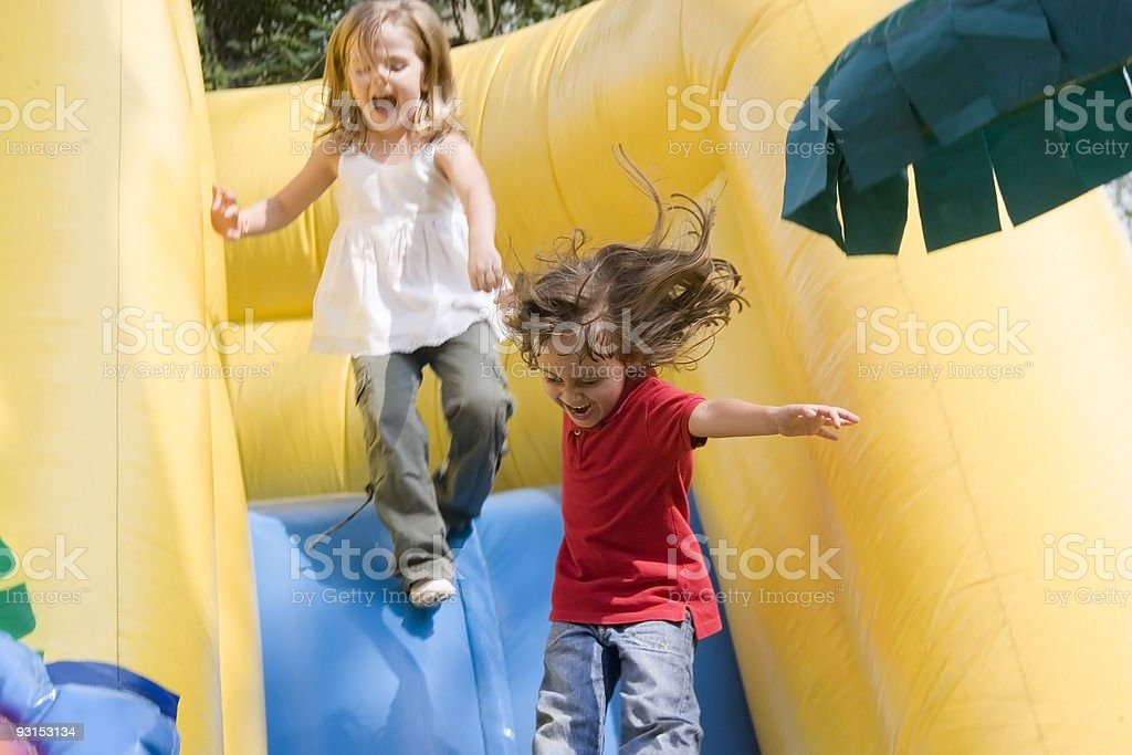 Two little girls having fun royalty-free stock photo