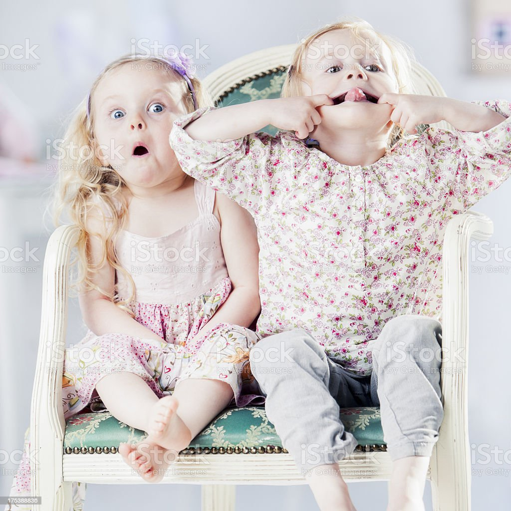 Two Little Girls royalty-free stock photo
