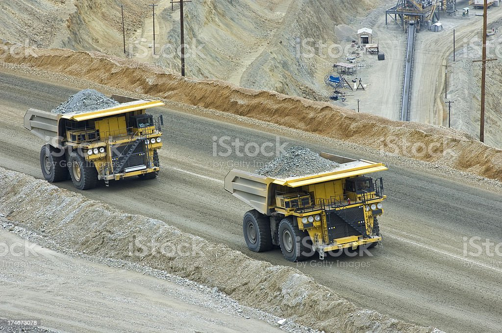 Two Loaded Trucks royalty-free stock photo