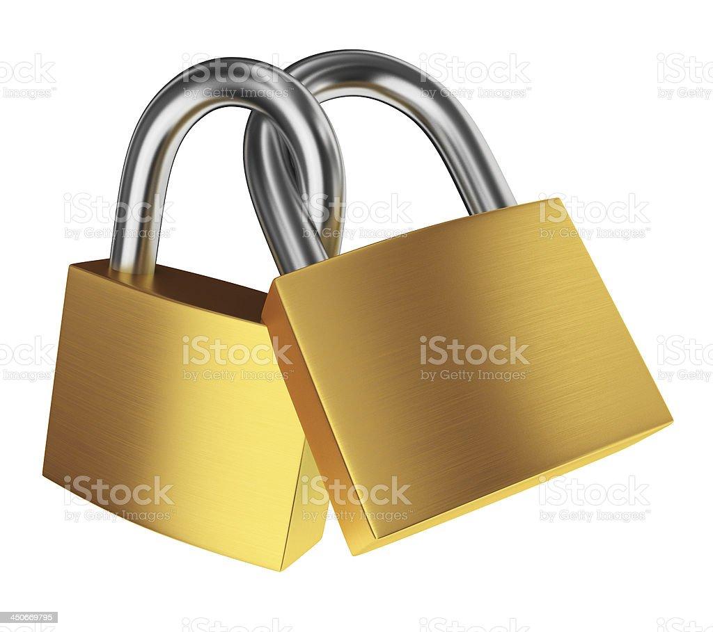 Two locks royalty-free stock photo