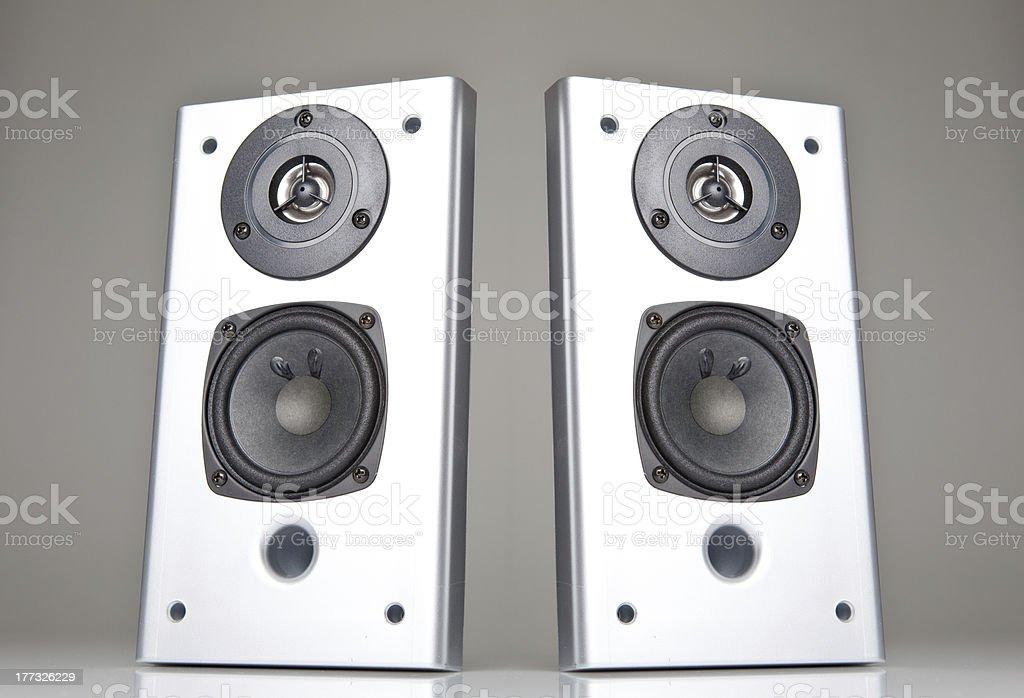 Two Loudspeaker stock photo