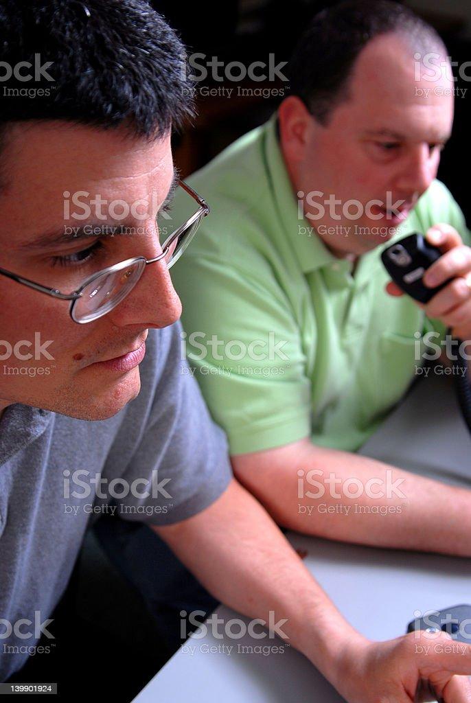 Two Male Ham Radio Operators stock photo