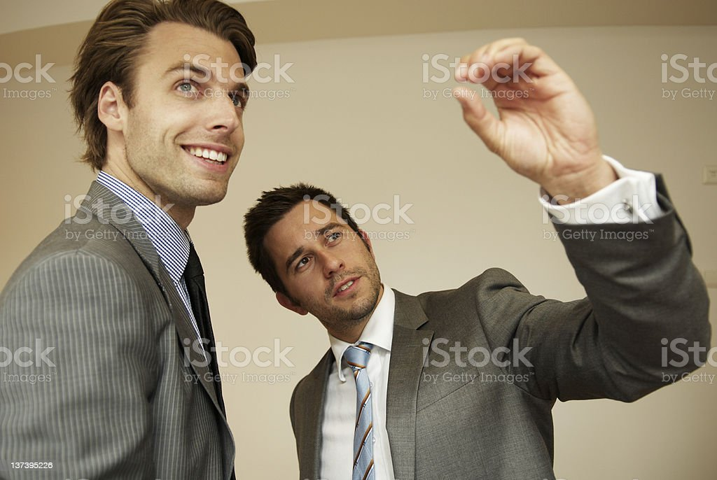 Two man in bussiness royalty-free stock photo