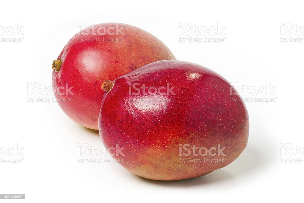 two mango. Objects with Clipping Paths. royalty-free stock photo