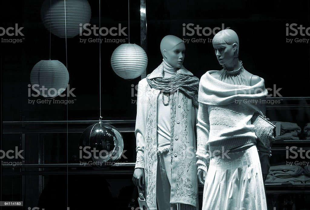 two mannequin royalty-free stock photo
