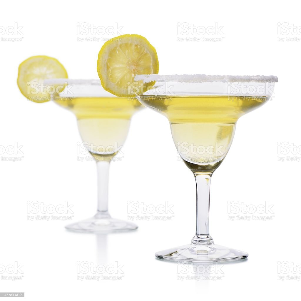 Two Margarita Cocktails royalty-free stock photo