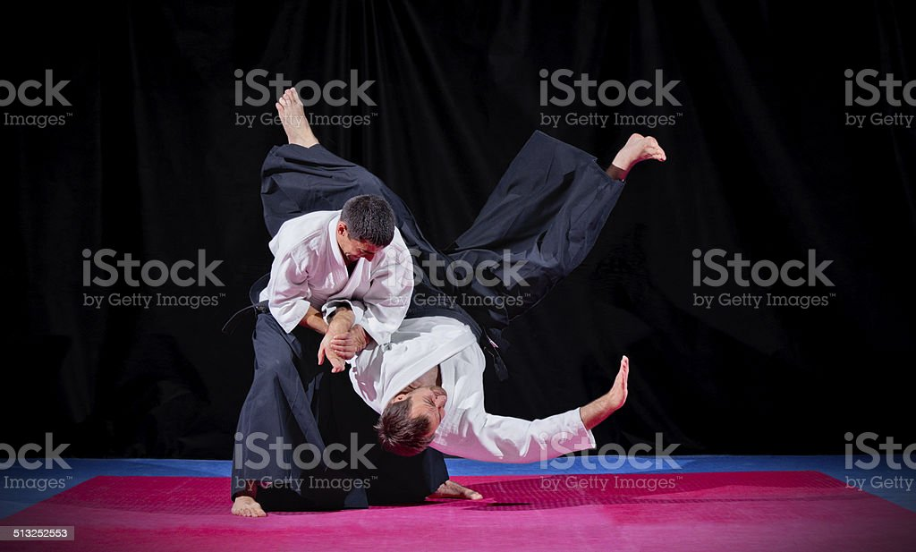 Two martial arts fighters stock photo