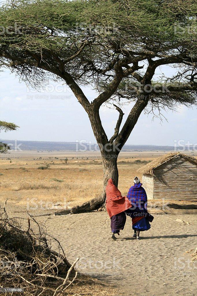 Two Masai Women royalty-free stock photo