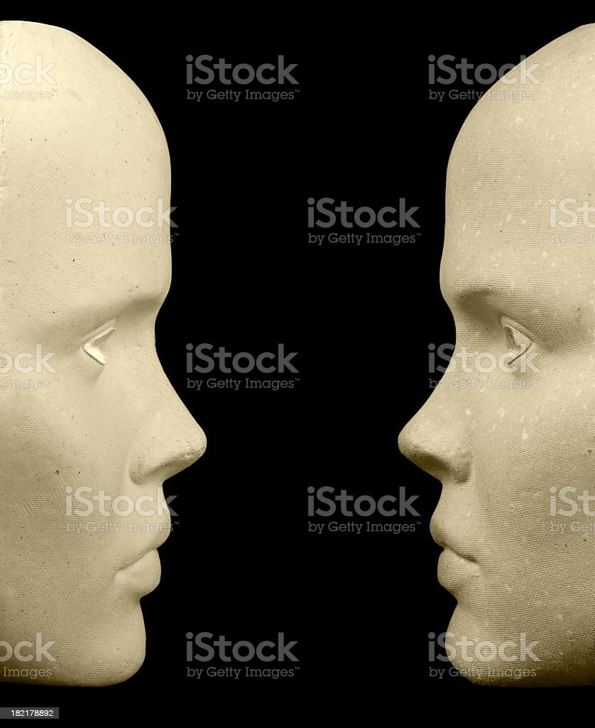 Two Mask stock photo