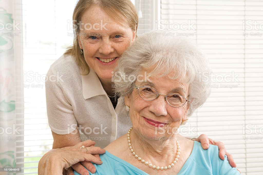 two mature women: mother and daughter-in-law royalty-free stock photo