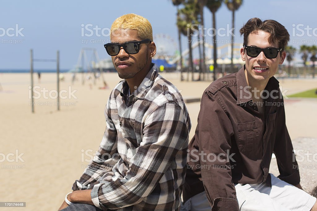 Two Men at the Beach royalty-free stock photo