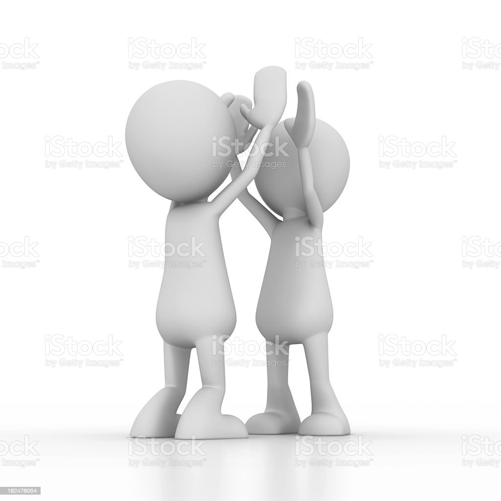 Two Men Doing High Five royalty-free stock photo