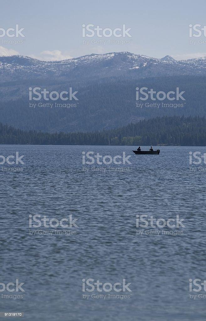 Two Men Fishing royalty-free stock photo