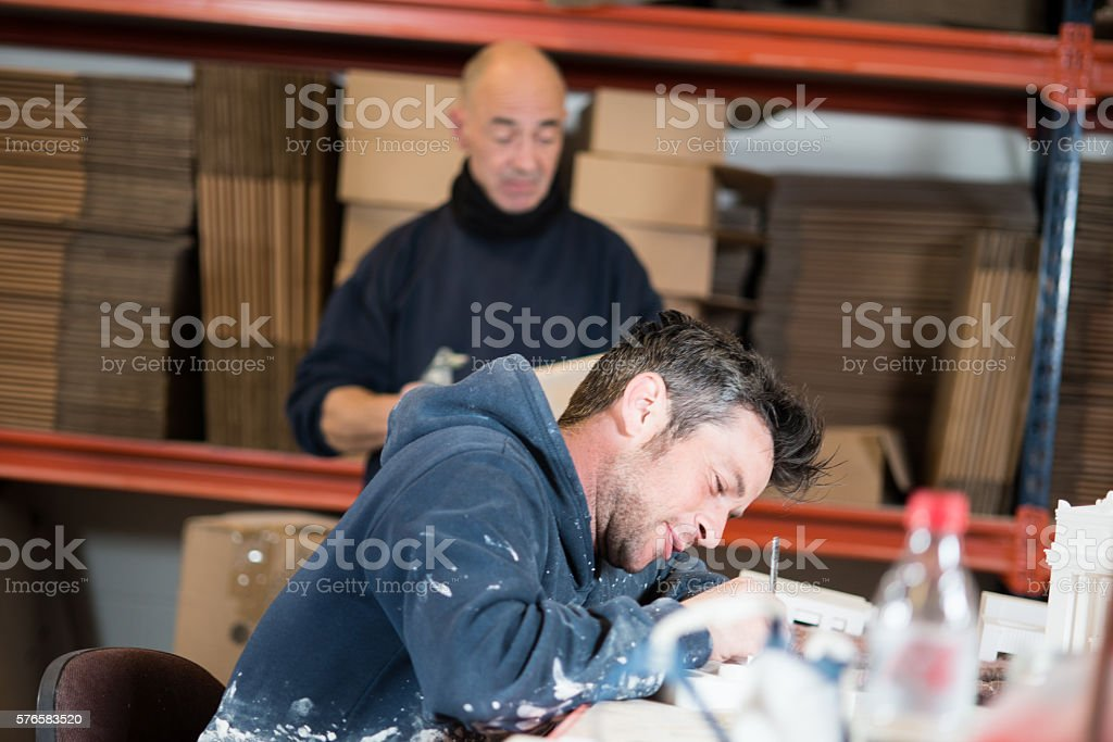 Two Men in a Workplace stock photo