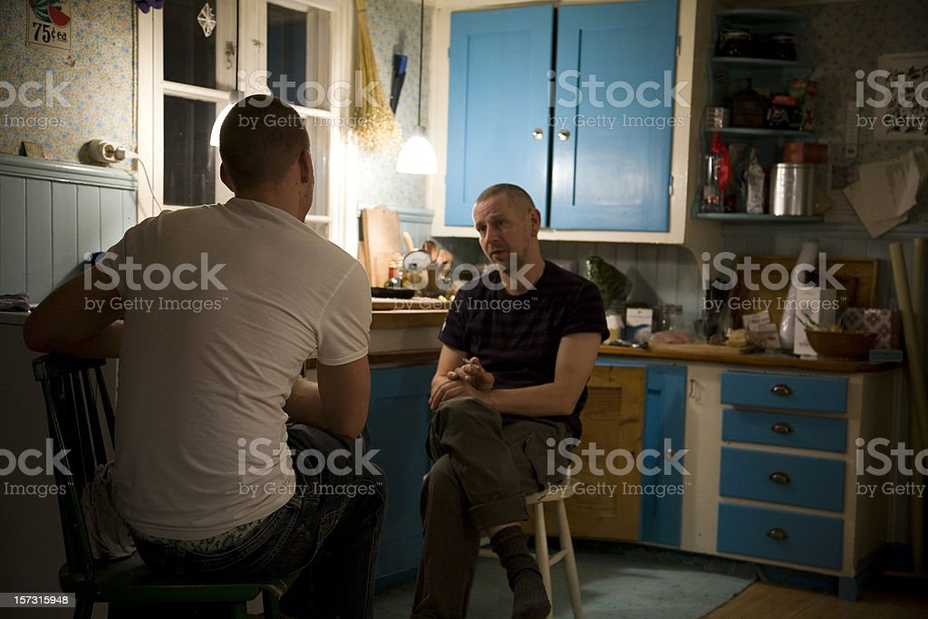 Two men talking.... stock photo