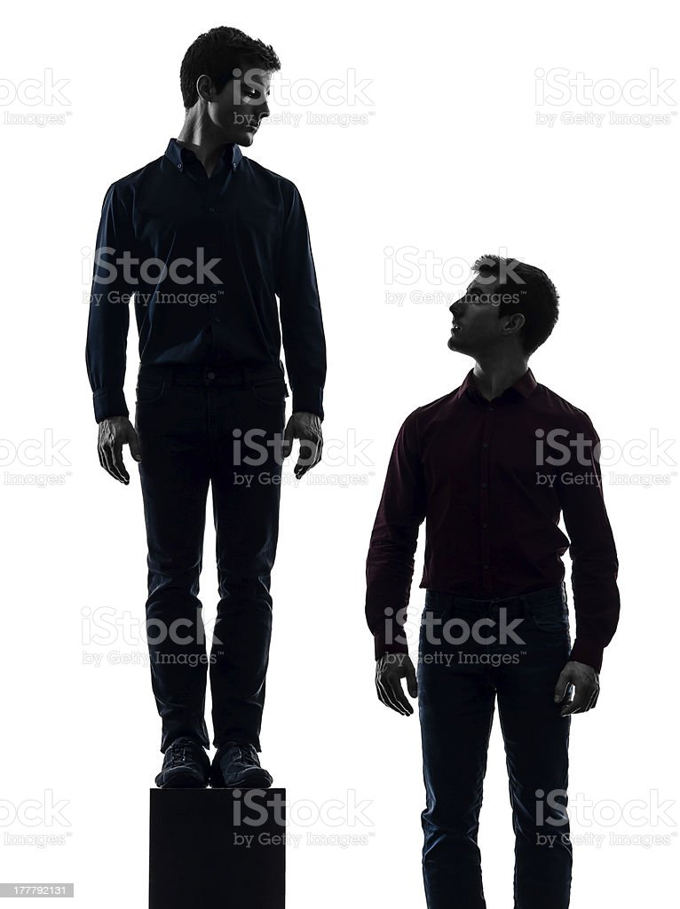 two  men twin brother friends dominant concept silhouette royalty-free stock photo