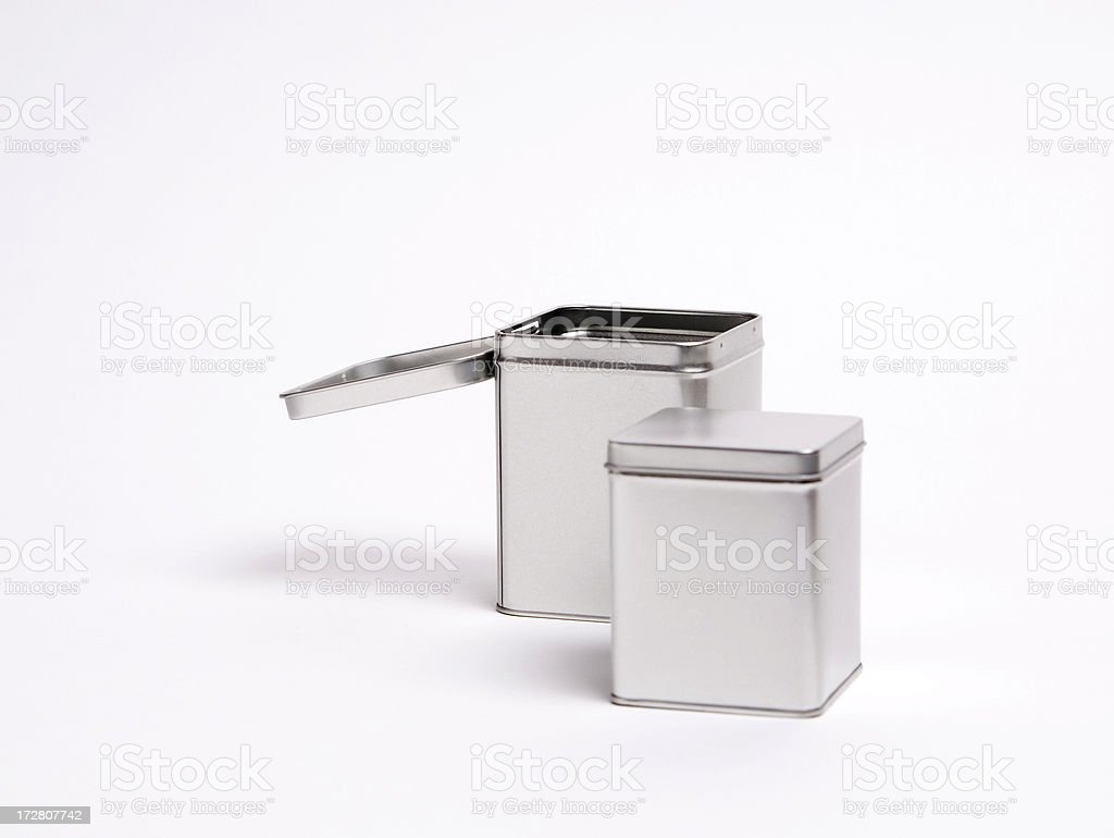 Two Metall Boxes In Different Sizes stock photo