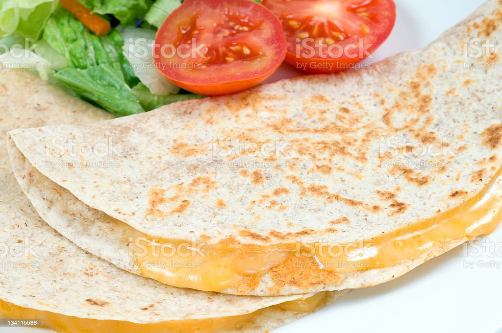 Two mexican quesadillas stock photo