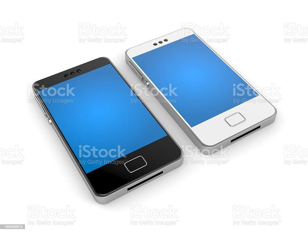 Two mobile phone royalty-free stock vector art
