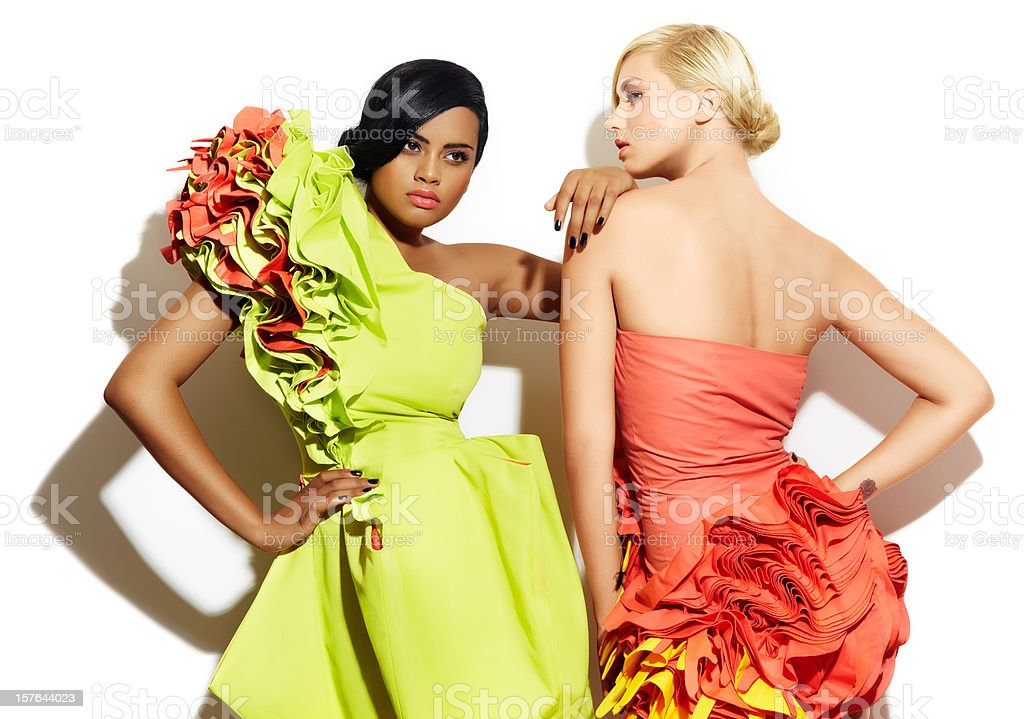 Two Models stock photo