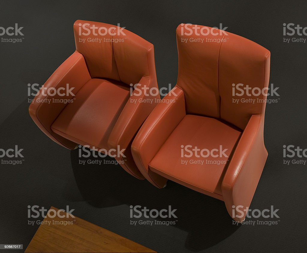 Two modern relax chairs [clippingpath] royalty-free stock photo