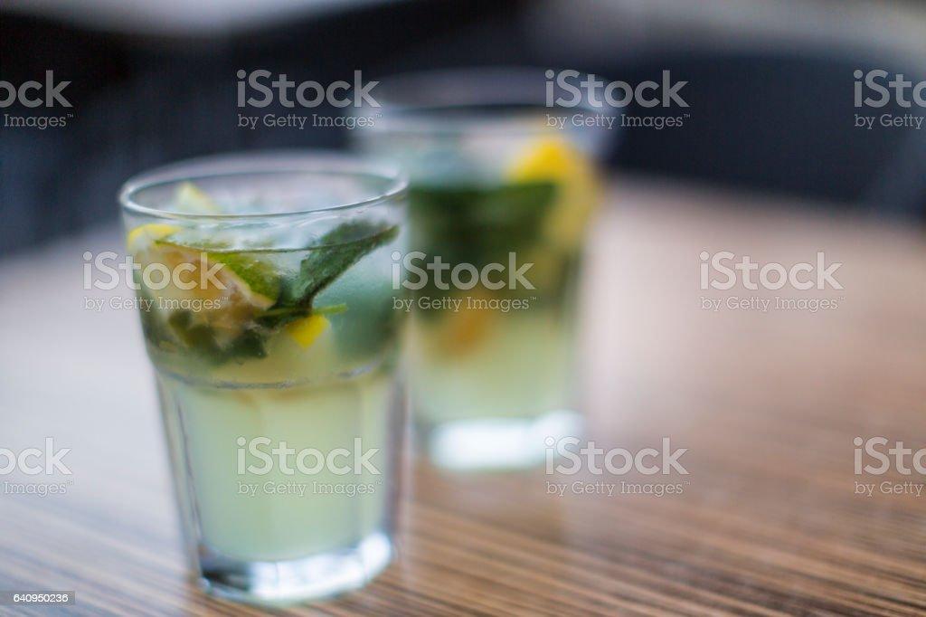 Two Mojitos stock photo
