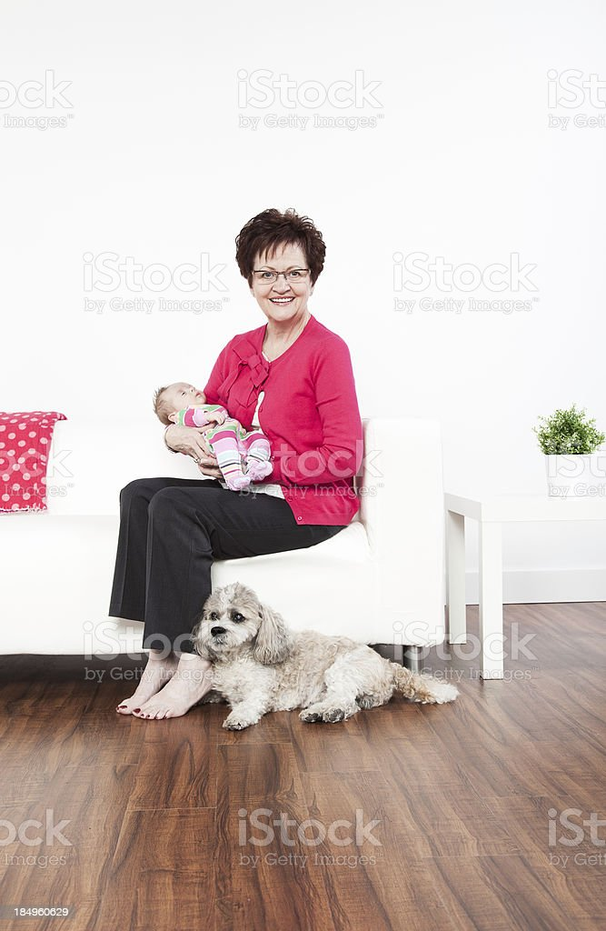 Two Month Old Baby and Grandma royalty-free stock photo