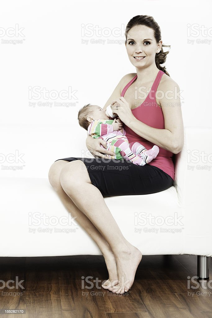 Two Month Old Baby and Mother stock photo