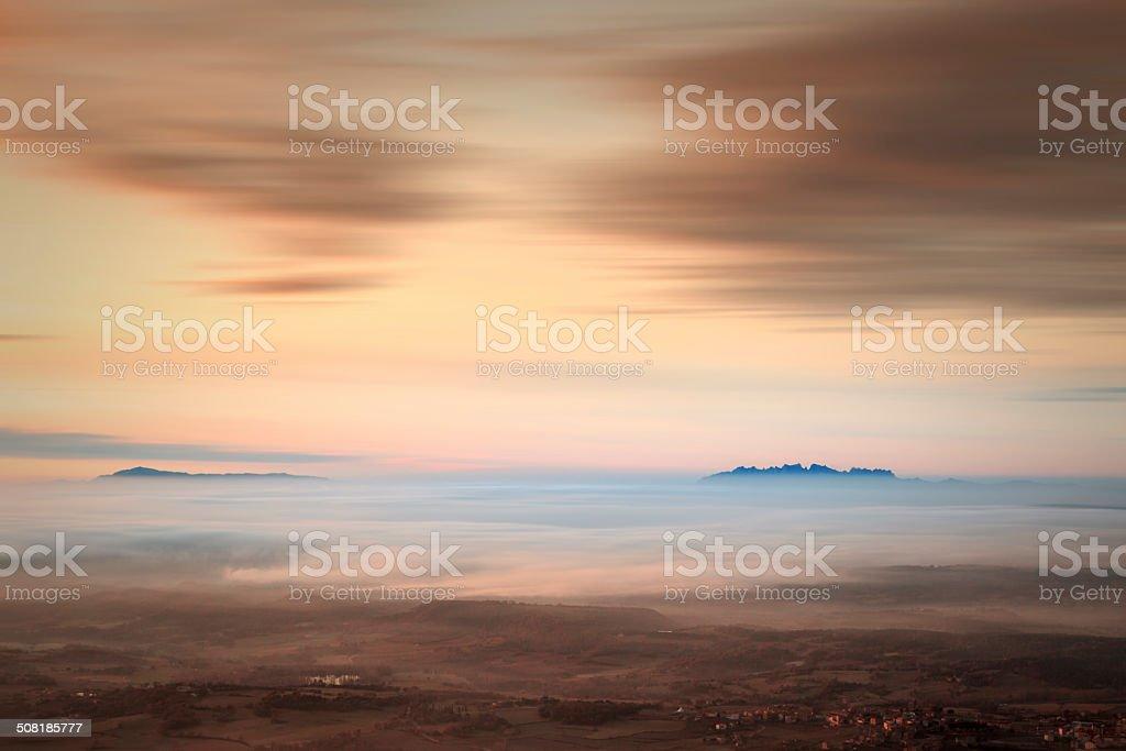 Two mountains stock photo