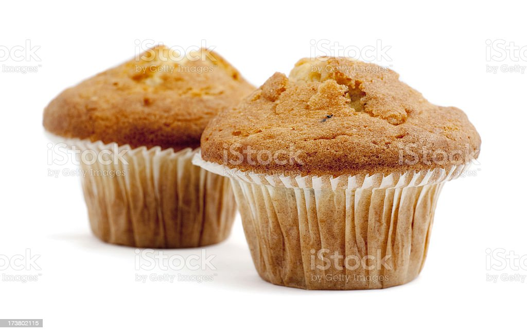 Two muffins isolated royalty-free stock photo