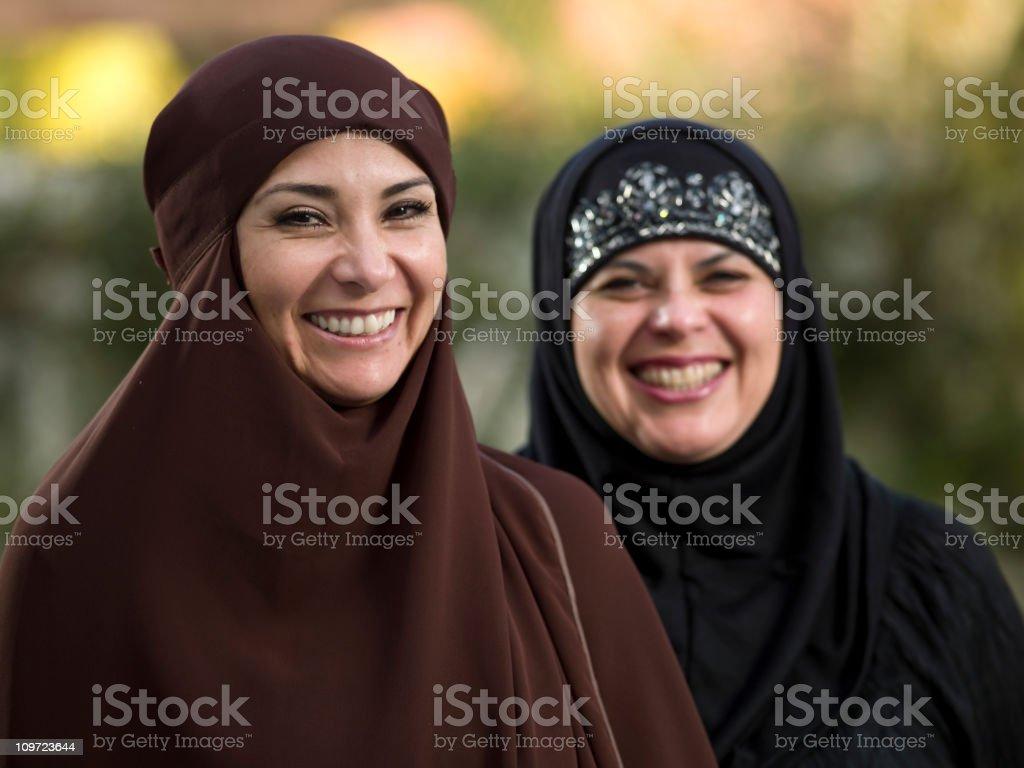 Two muslim woman royalty-free stock photo