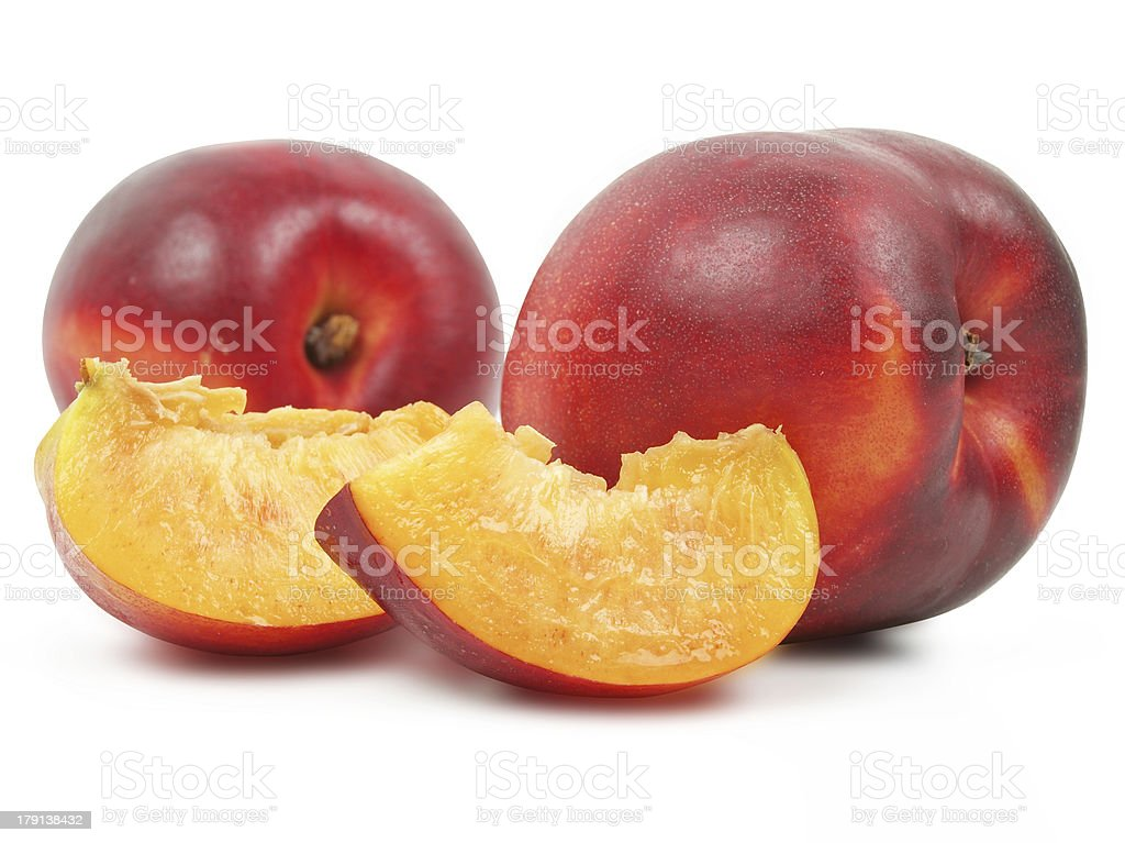 Two nectarines royalty-free stock photo
