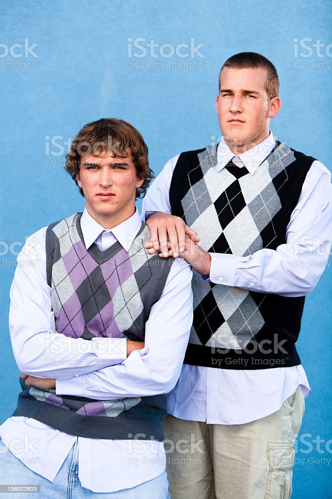 Two nerds. stock photo
