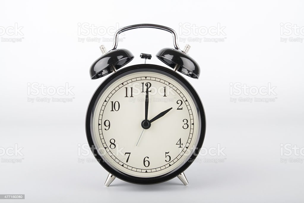 Two o'clock. Alarm clock. stock photo