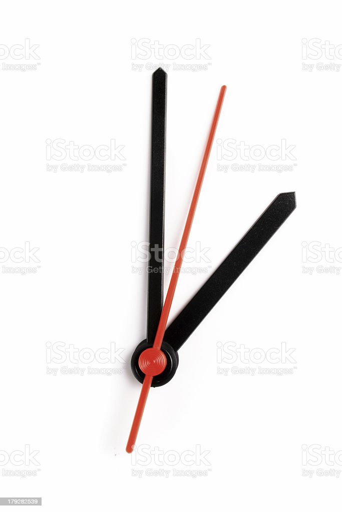 Two o'clock royalty-free stock photo