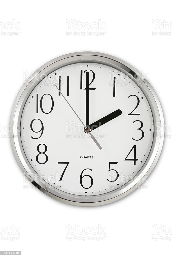 Two O'clock stock photo